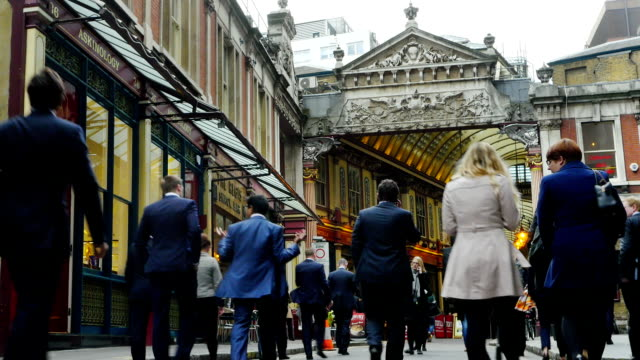 London Leadenhall Place And Leadenhall Market (4K/UHD to HD) video