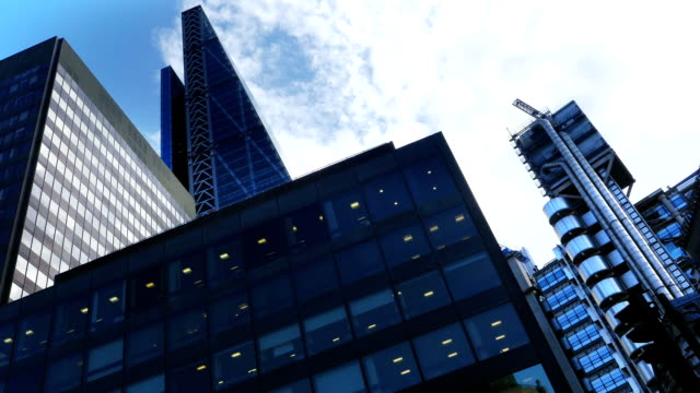 T/L London Lloyd's Building And The Cheesegrater In London video