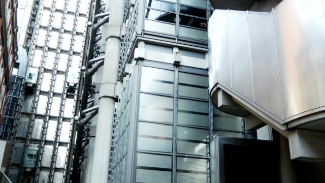 London Lloyd's Building Outdoor Elevators (4K/UHD to HD) video