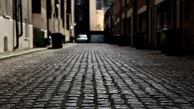 london mews street with cobbles - victorian architecture stock videos & royalty-free footage
