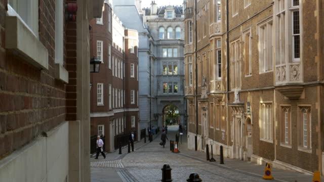 london middle temple lane - пешеходная дорожка путь сообщения стоковые видео и кадры b-roll