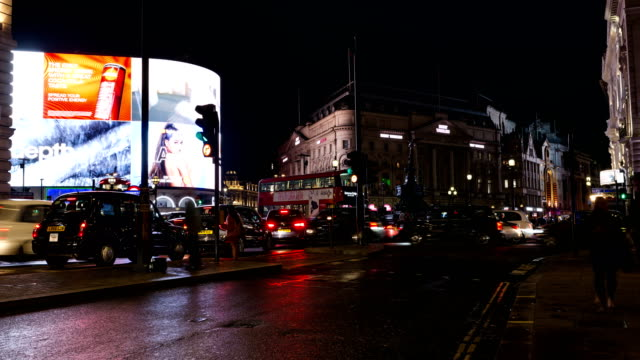 London Piccadilly Circus Time Lapse In The Night