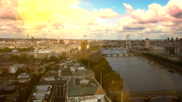London River Thames skyline time-lapse. HD video
