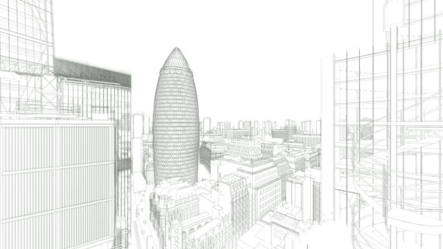 london sketch, the gherkin, swiss reinsurance headquarters, drone fly 4k - london architecture stock videos & royalty-free footage