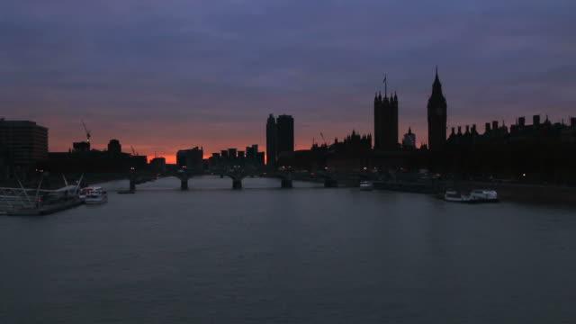 London skyline, dusk. video