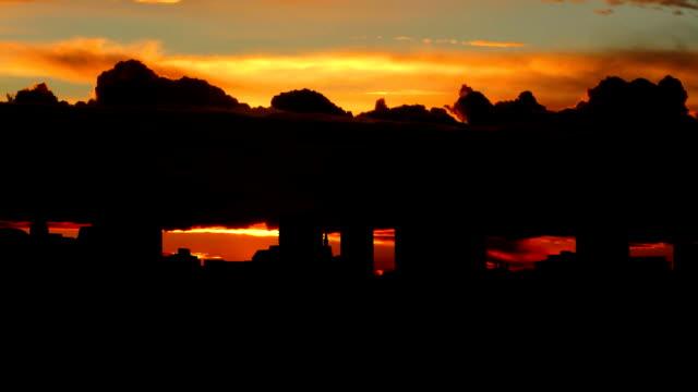 UK London Skyline vivid sunrise video