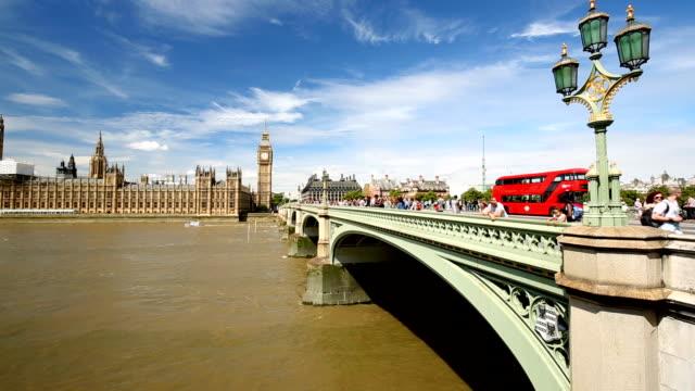 London Skyline with Westminster Bridge video