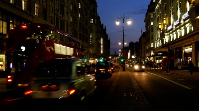 London Strand Road At Night (4K/UHD to HD) video