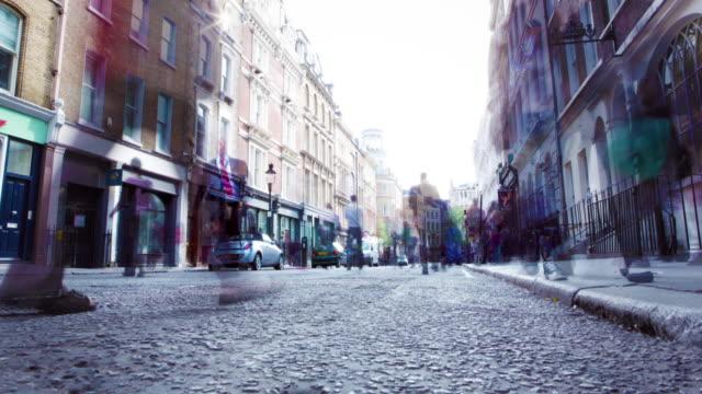 London Street Time Lapse Parallax video