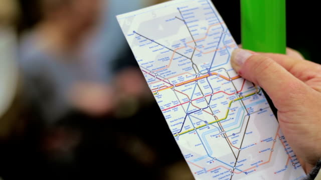 london subway map in hand video