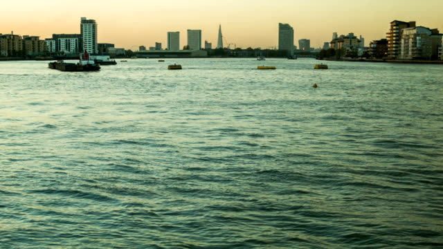London Sunset, view of the Thames from Greenwich video