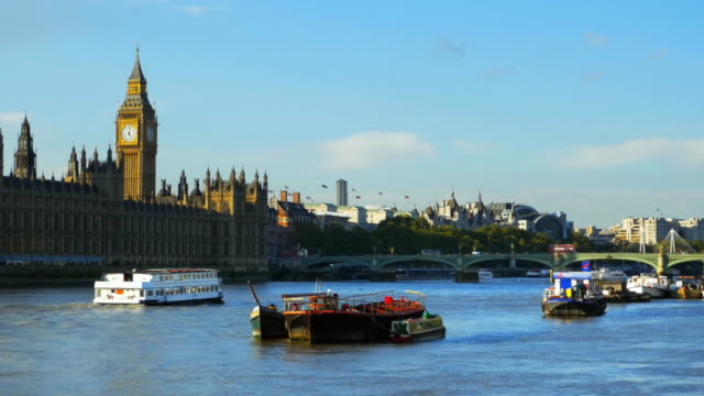 London Thames River and Houses of Parliament Cinemagraph video