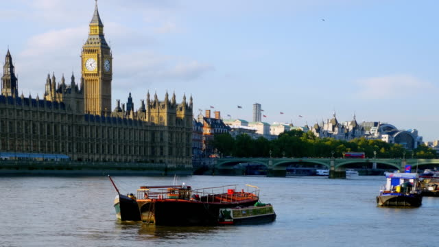 London Thames River und Houses of Parliament – Video