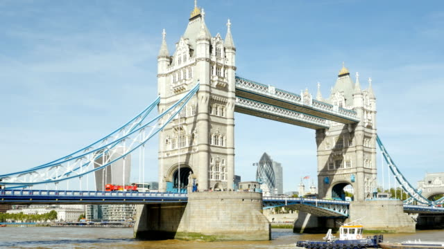 London Tower Bridge and the City video