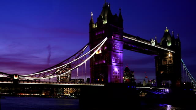 London Tower Bridge At Night video