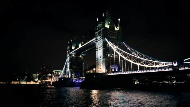 London Tower Bridge, Night, UK video