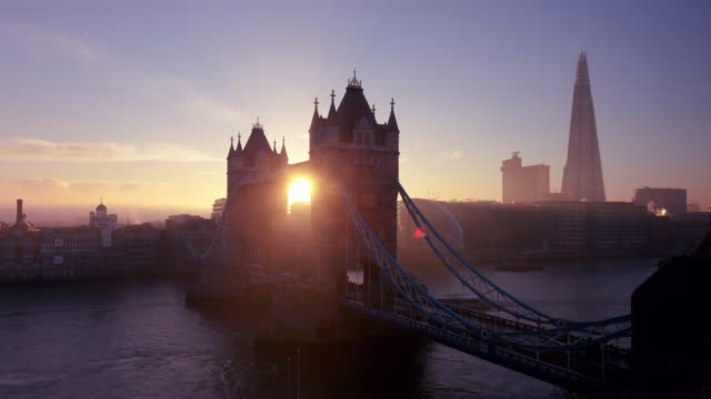 London Tower Bridge Timelapse Day to Night. Day to night time lapse of the famous London landmark Tower Bridge. sunrise dawn stock videos & royalty-free footage