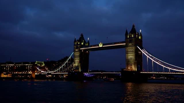 London Tower Bridge,Night , UK video