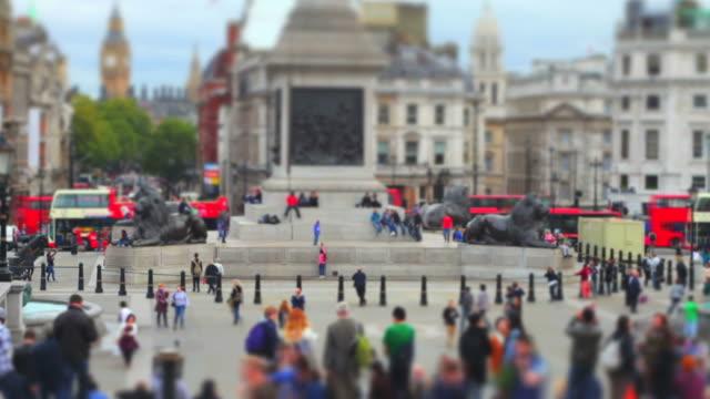 London Trafalgar Square (Tilt Shift Effect) video
