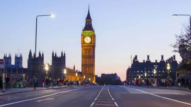 London, Traffic on Westminster bridge video