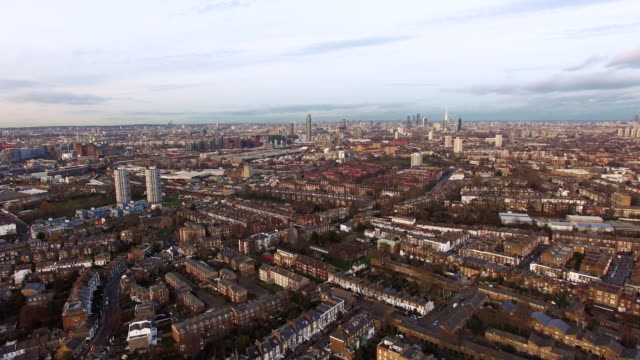 London Urban Cityscape Aerial View 4K London Urban Downtown Cityscape Aerial View Flying Over Clapham and Battersea South West London feat. City Center and Iconic Landmarks 4K south stock videos & royalty-free footage