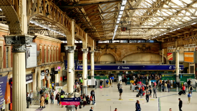 t/l london victoria station (4k/uhd to hd) - victorian architecture stock videos & royalty-free footage