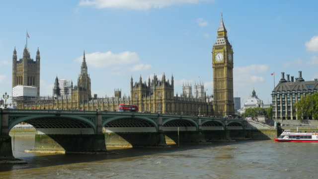 London Westminster Bridge And Big Ben (UHD) video
