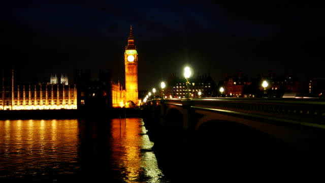London Westminster Bridge And Houses Of Parliament Time Lapse video