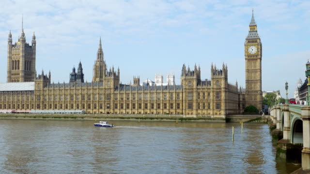 London Westminster Bridge and Houses of Parliament video