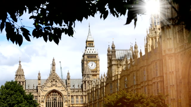 London Westminster with sun video
