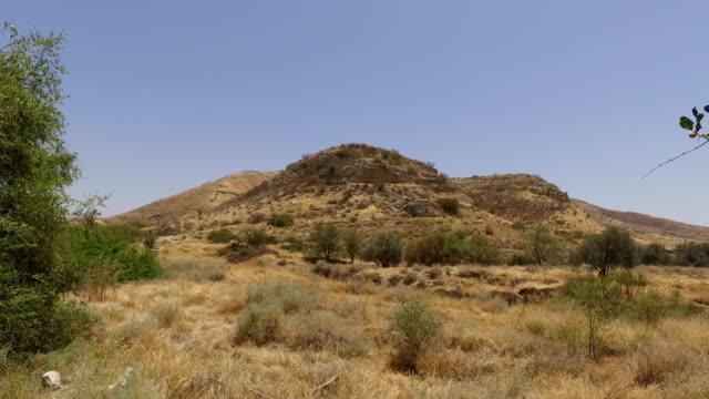 Lone Peak Across Barren Field in Israel video