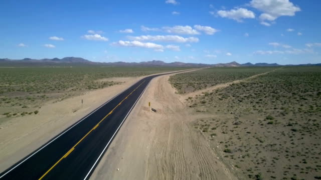 Lonely desert road video