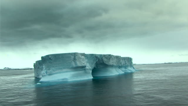 lonely iceberg with ominous sky video