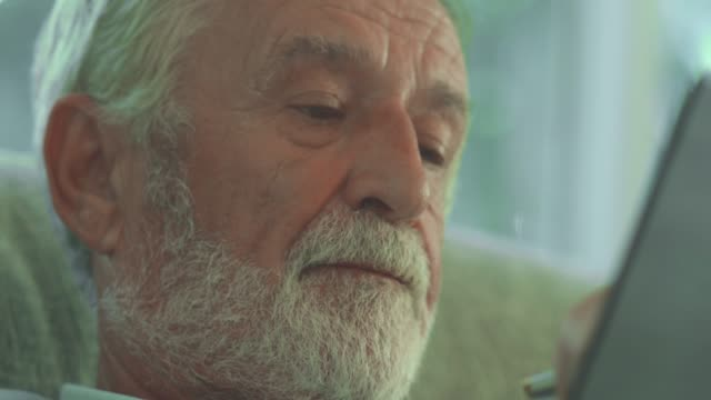 Lonely senior old man