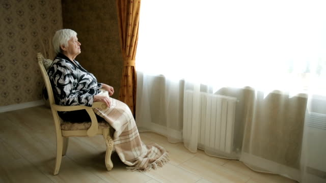 lonely senior woman - senior care stock videos and b-roll footage