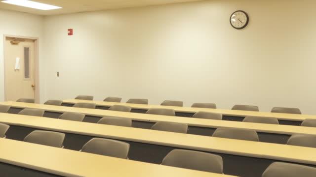 Long Desks in a University Lecture Auditorium video