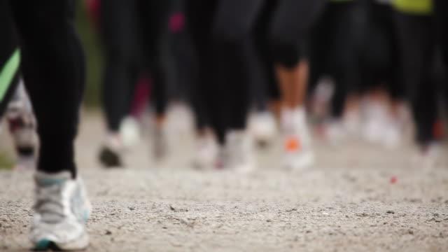 Long distance running video