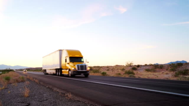Long Haul Semi Truck On a Rural Western USA Interstate Highway - video