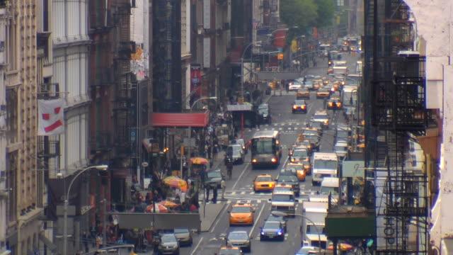 long shot down avenue in manhattan video