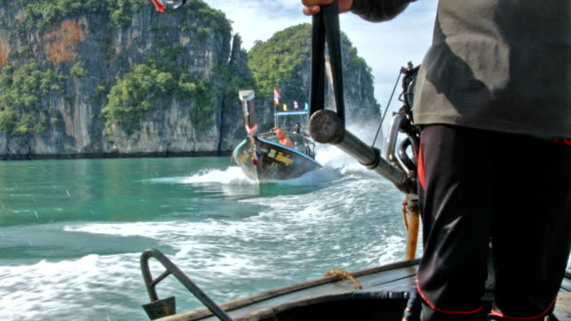 Long tail boat Thailand video