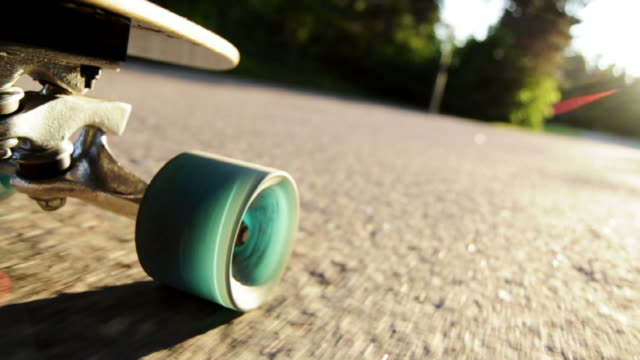 longboard downhill sunset - skateboarding - skateboarding stock videos and b-roll footage