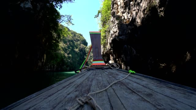 Longtail boat in Thailand video