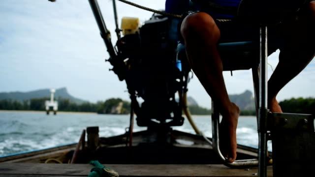 Longtail boat traditional travel Krabi island