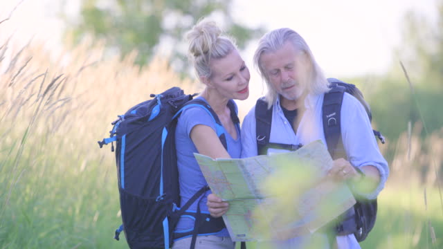 Looking at a Map on a Hike video