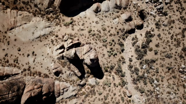 Looking Down at Rocks in California Desert video