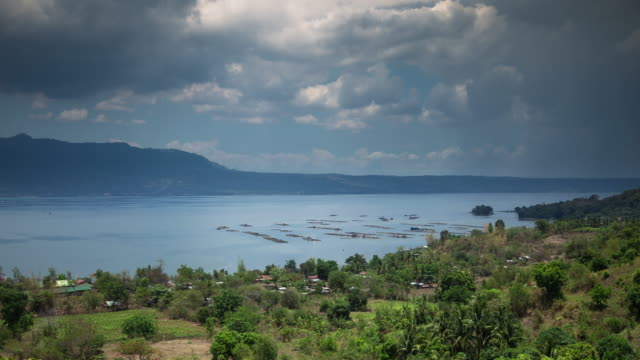 Looking Down on Taal Lake - Time Lapse video