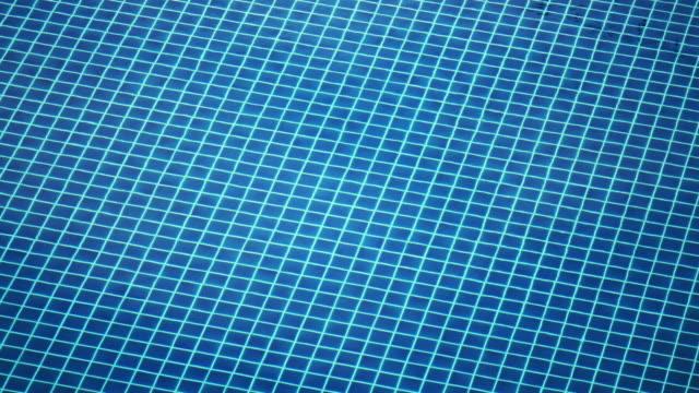 vídeos de stock e filmes b-roll de looking into blue tiled swimming pool rippled water - quadriculado
