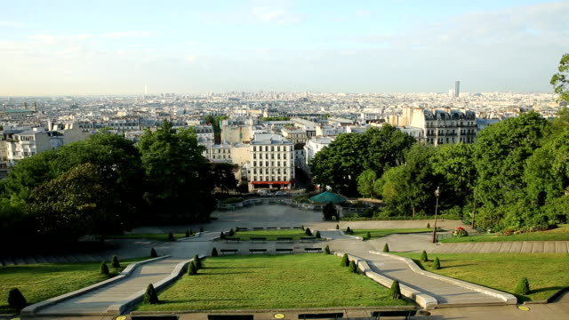 ser paris skyline - montmatre utsikt bildbanksvideor och videomaterial från bakom kulisserna
