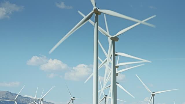 Looking Up at Wind Turbine Blades video