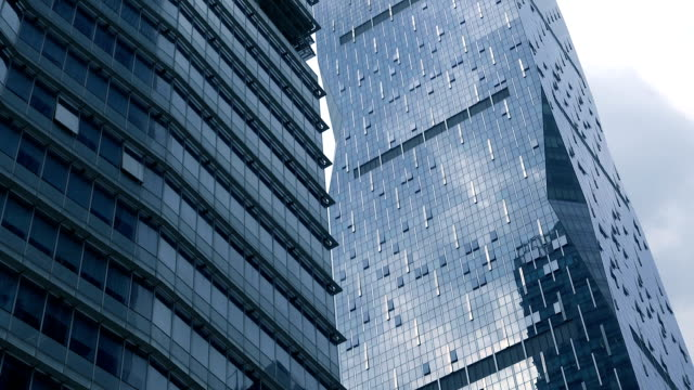 looking up corporate building - tilt down stock videos & royalty-free footage